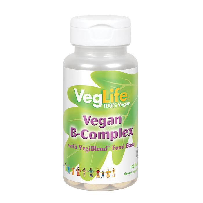 VegLife B-Complex, Vegan | For Healthy Energy Metabolism, Heart & Brain Function, Skin & Nails, Stress & Mood Support | Vegan