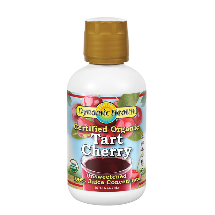 Dynamic Health Organic Tart Cherry | Unsweetened 100% Juice Concentrate | Vegan, Gluten Free, BPA Free