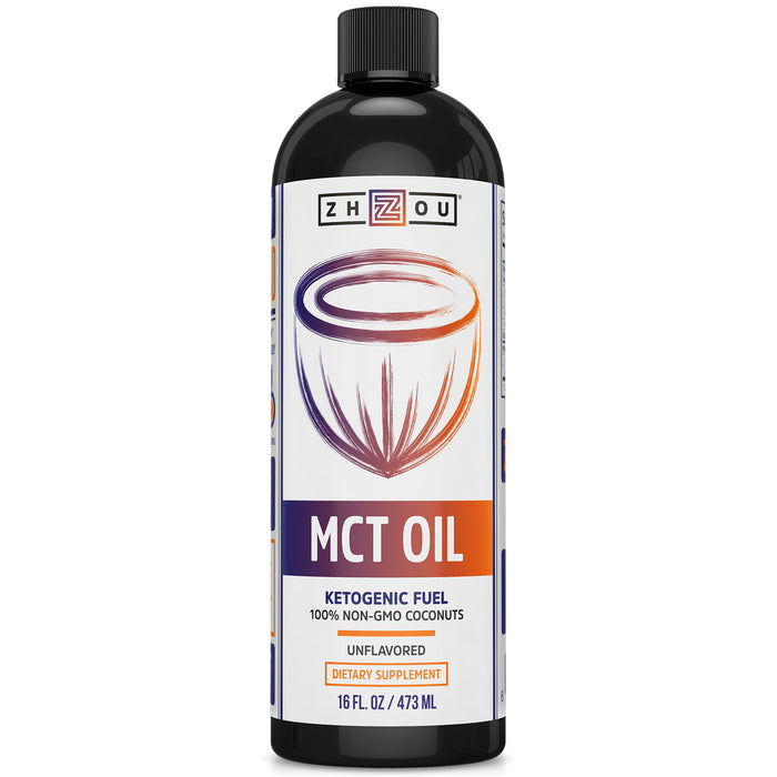Zhou MCT Oil Ketogenic Fuel | Quick Clean Energy for Body & Mind | 16 Fl Oz