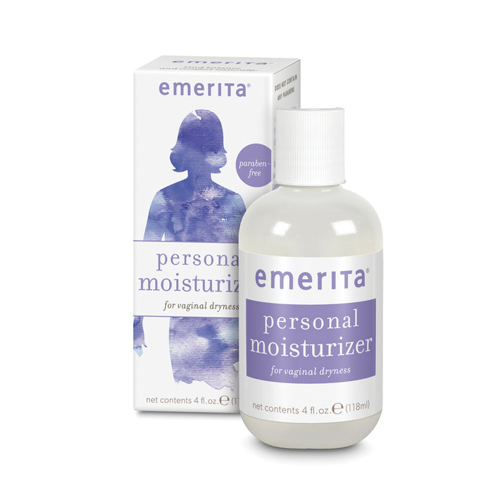 Emerita Personal Moisturizer | Intimate Skin Care For Vaginal Dryness | Water Based with Calendula & Vitamin E | Estrogen & No Parabens (4 fl oz)