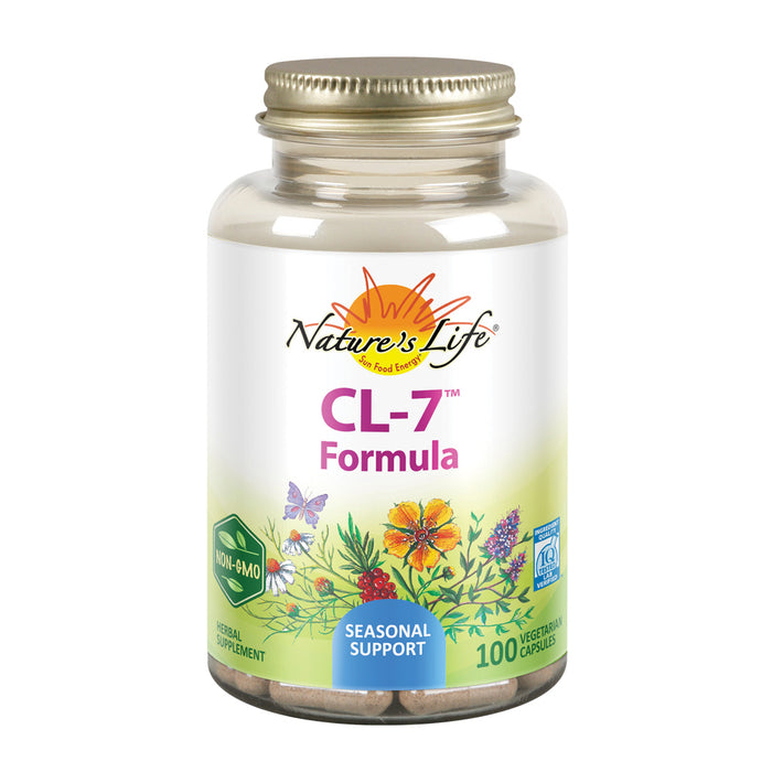 Nature's Life CL-7 Seasonal Support Formula | Immune System and Respiratory Health Herbal Blend | 100CT
