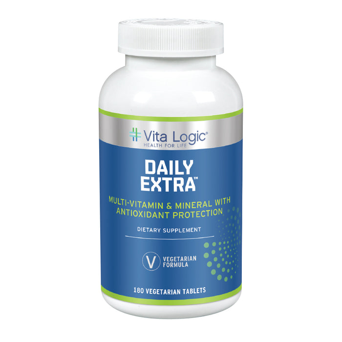 Vita Logic Daily Extra Multivitamin & Mineral | Once Daily Formula For Energy, Immune Function & Overall Health Support | 180 Vegetarian Tablets