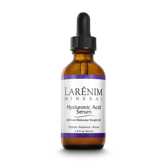 Larenim Hyaluronic Acid Serum | Topical Serum | Hydrate, Replenish & Renew Skin & Face | Minimize the Look of Fine Lines & Wrinkles | Vegan | 1fl oz