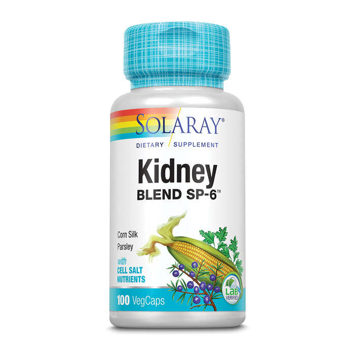 Solaray Kidney Blend SP-6 | Herbal Blend w/ Cell Salt Nutrients to Help Support Healthy Kidney Function | Non-GMO, Vegan (1 Pack)