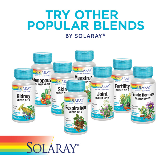 Solaray Detox Blend SP-25 | Herbal Blend w/ Cell Salt Nutrients to Help Support Healthy Internal Cleansing | Non-GMO, Vegan | 50 Serv | 100 VegCaps