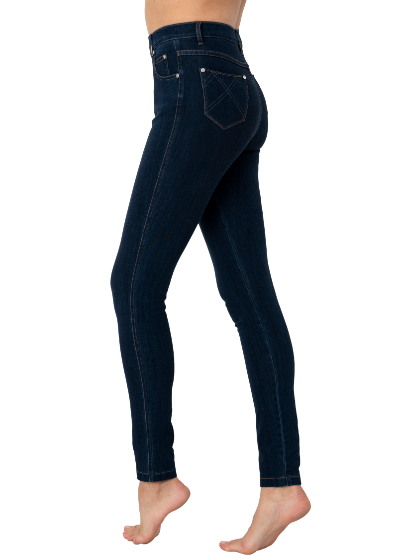 Marble Stretch Skinny Jeans Indigo - Due back in stock