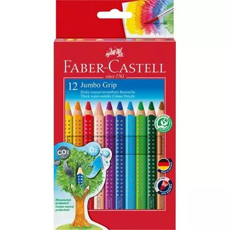 CRAYON FABER CASTELL JUMBO GRIP 12 PZS