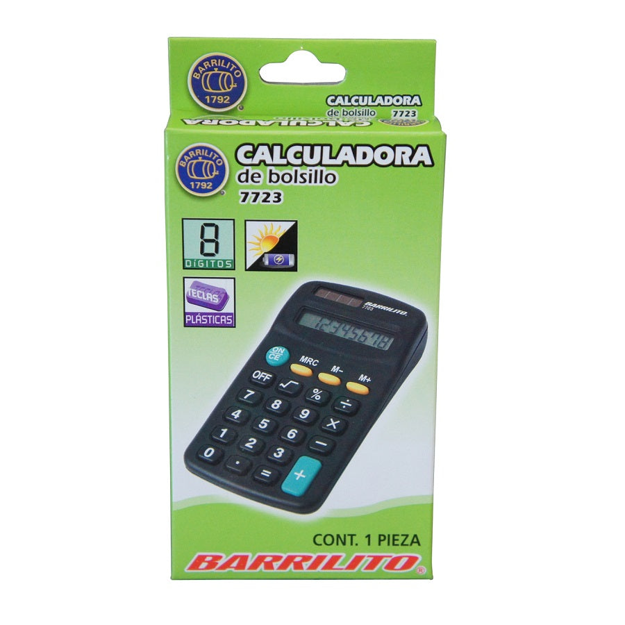 CALCULADORA 7723 8 DIGITOS BARRILITO
