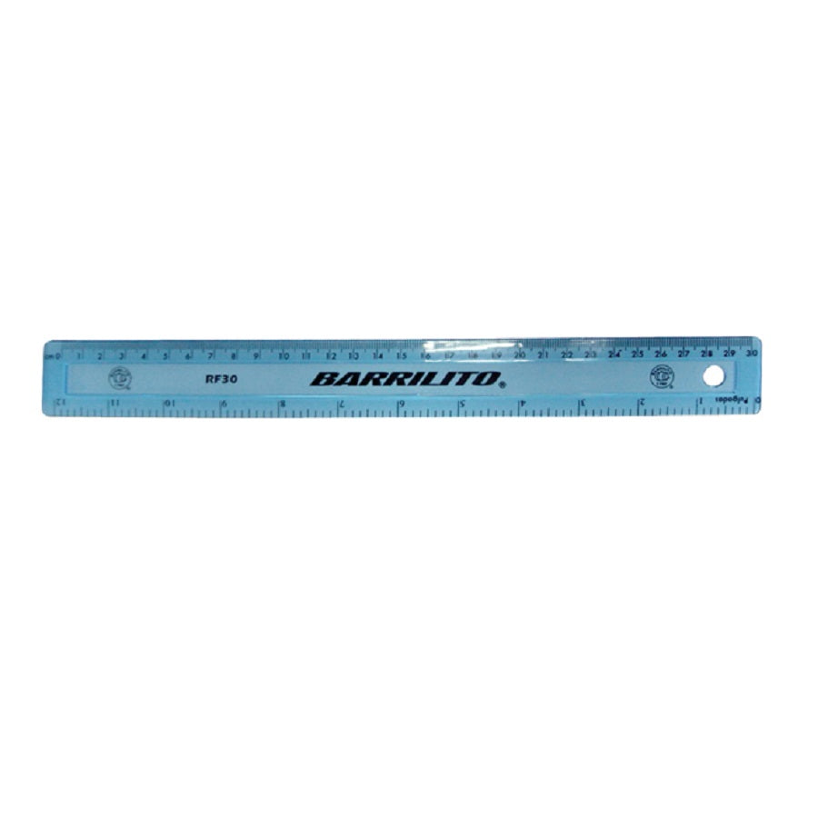 REGLA PLASTICO 30CM SUPER FLEXIBLE BARRILITO
