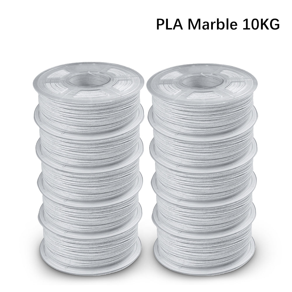 UK Promotion: 10 Rolls of PLA Marble 1.75mm filament 10kg/22lbs, Fit most of FDM 3D printer - Enotepad