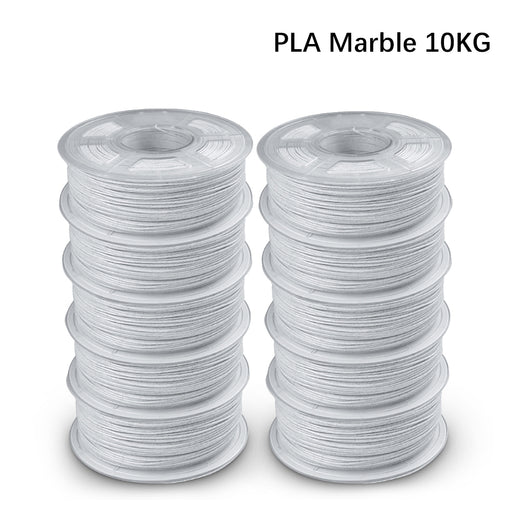 Pre-Sale: 10 Rolls of PLA Marble 1.75mm filament 1kg/2.2lbs, Fit most of FDM 3D printer - Enotepad