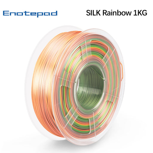 PLA Silk Rainbow Filament 1.75mm 1kg/2.2lbs.  Fit most of FDM 3D printer - Enotepad
