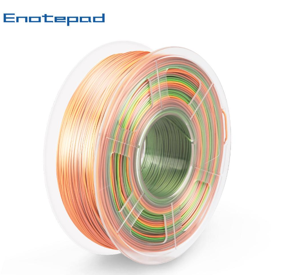 3 rolls of PLA Silk Rainbow Filament 1.75mm 3kg/6.6lbs. - Enotepad