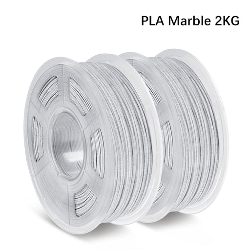 Pre-sale: 2 Rolls of PLA Marble 1.75mm filament 2kg/4.4lbs, Fit most of FDM 3D printer - Enotepad