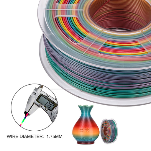 PLA Rainbow 1.75mm 3D Printer Filament 1kg/2.2lbs, the best of rainbow filament - Enotepad