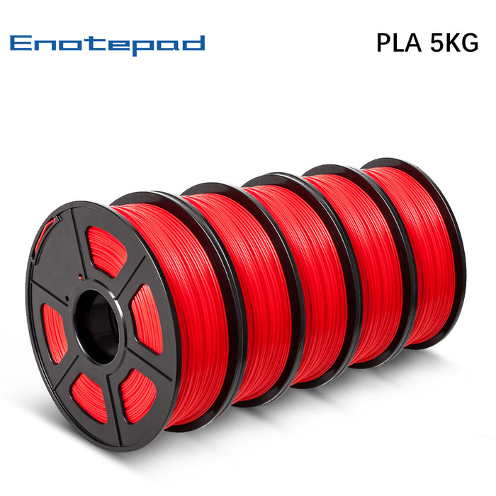 5 Rolls of PLA 1.75mm filament 5kg/11lbs, Fit most of FDM 3D printer - Enotepad