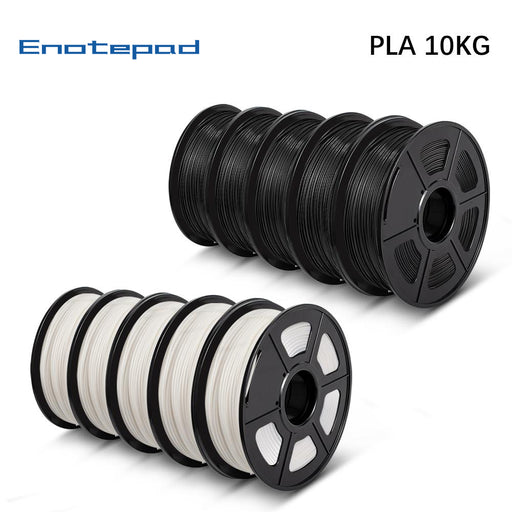10 Rolls of PLA 1.75mm filament 10kg/22lbs, Fit most of FDM 3D printer - Enotepad