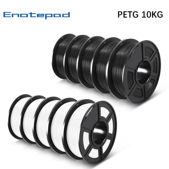 10 Rolls of PETG 1.75mm filament 10kg/22lbs, Fit most of FDM 3D printer - Enotepad