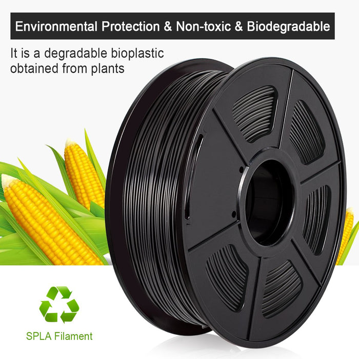 2 Rolls SPLA 3D Filament 1.75mm For 3D Printer 2KG 4.42lb - Enotepad