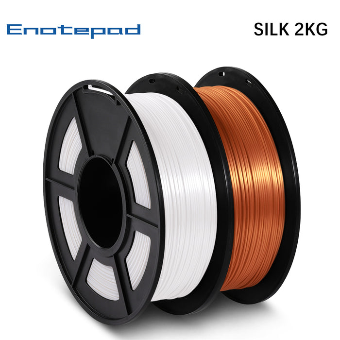 2 Rolls of PLA Silk 3D Filament 2kg/4.4lbs,fits most FDM 3D printer - Enotepad