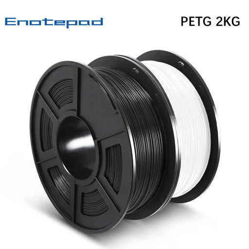 2 Rolls of PETG 3D Filament 1.75mm For 3D Printer 2KG 4.42lb - Enotepad