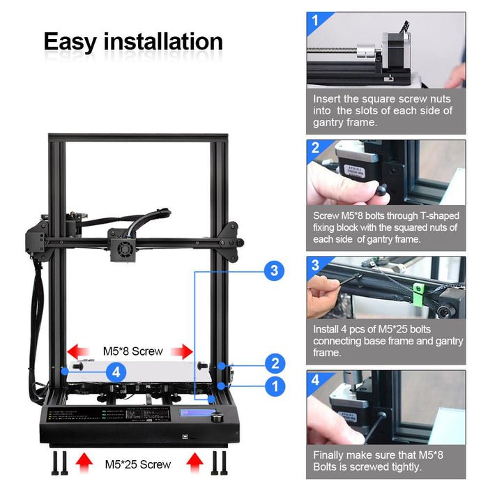 Enotepad 3D Printer S8 ,the best of FDM large size 3D printer from SUNLU.Free shipping from the USA or European warehouse. - Enotepad