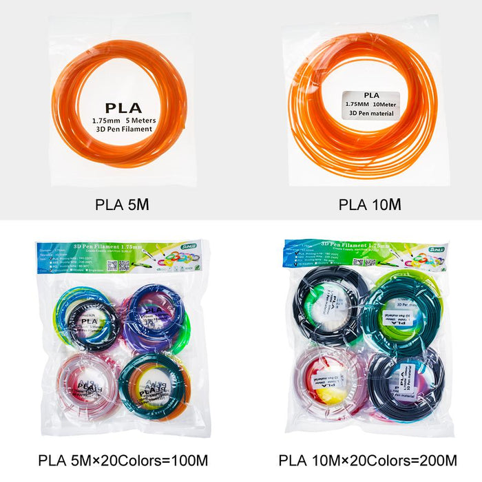 3D Filament sample 1.75mm Colorful filament. Totally 20 Colors 200 Meters Ship From China - Enotepad