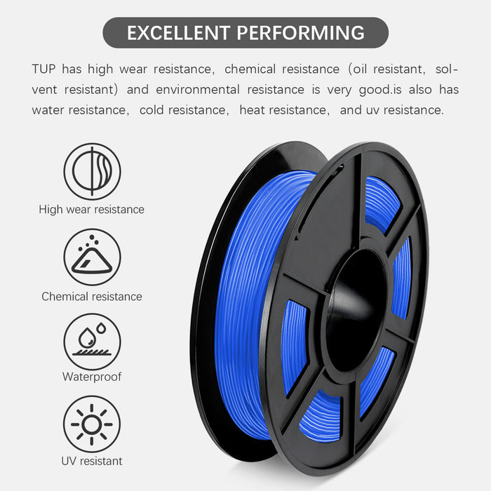 TPU Flexible 1.75mm 3D Printer Filament 0.5kg/1.1lbs - Enotepad