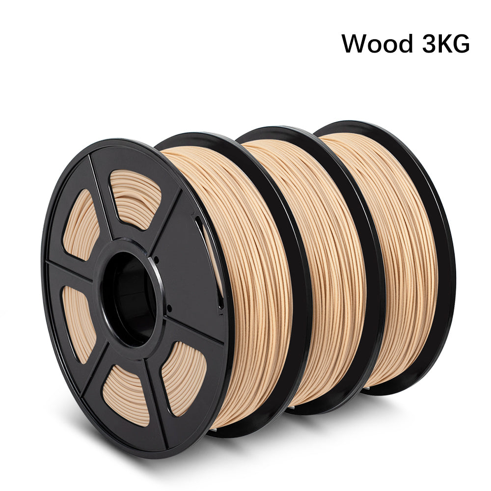 3 Rolls of  Wood 3D Filament 6KG/6.6LBS, Fits most of 3D Printers - Enotepad
