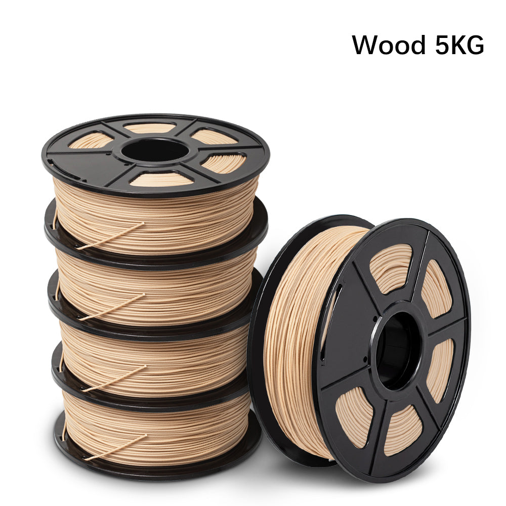5 Rolls of  Wood 3D Filament 5KG/11LBS, Fits most of 3D Printers - Enotepad