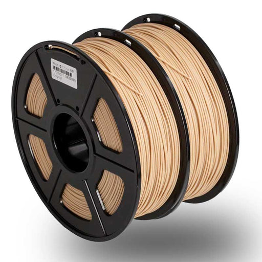 2 Rolls of  Wood 3D Filament 2KG/4.4LBS, Fits most of 3D Printers - Enotepad