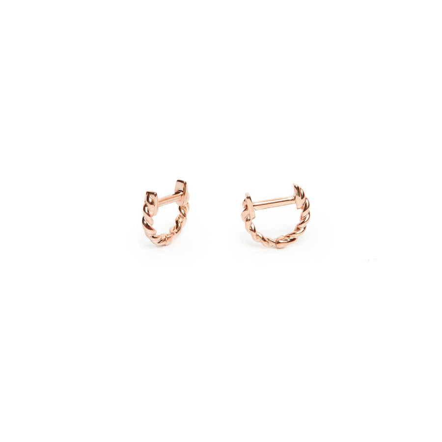 Helix Huggie Extra Small - 9ct Rose Gold