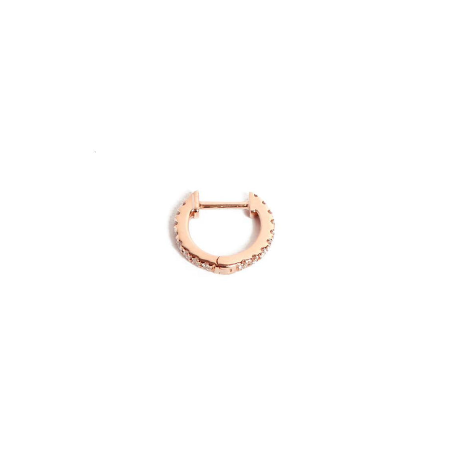 Diamond Huggies Small - 14ct Rose Gold