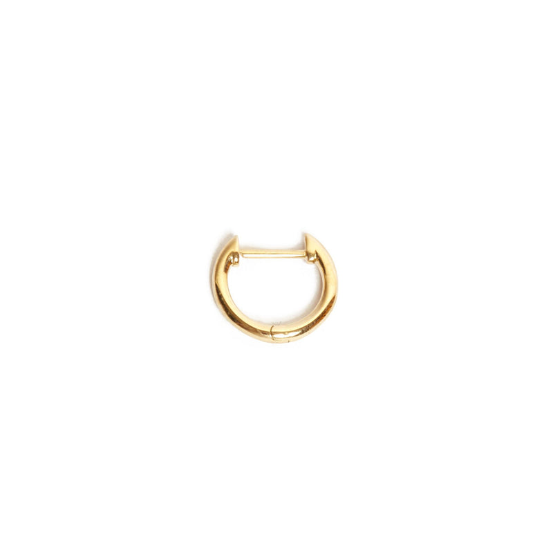 Round Huggie Small - 9ct Gold