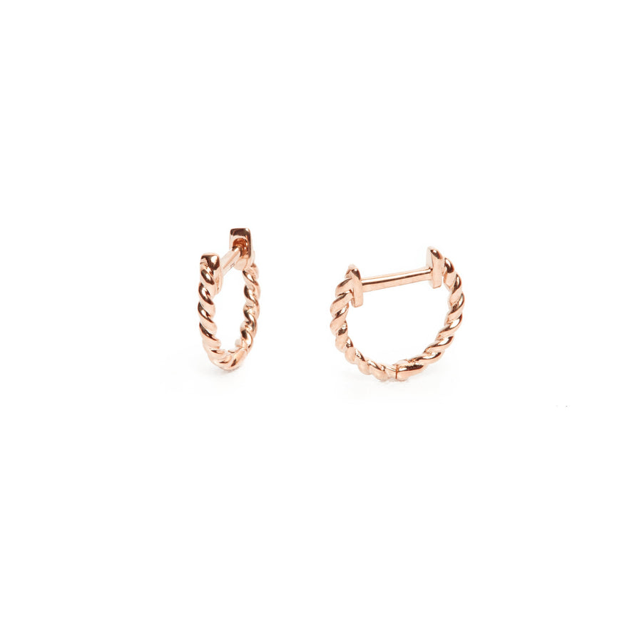 Helix Huggie Small - 9ct Rose Gold