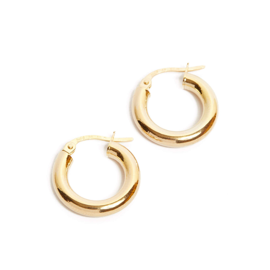 Midi Tube Hoops Extra Small - 9ct Gold