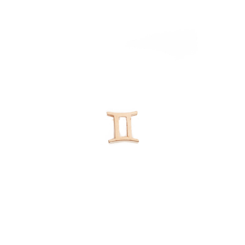 Zodiac Stud - 9ct Rose Gold