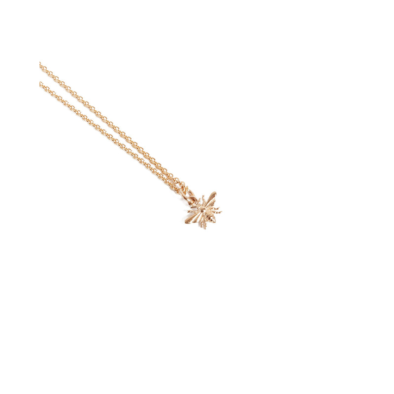 Tiny Honey Bee Necklace - 9ct Rose Gold