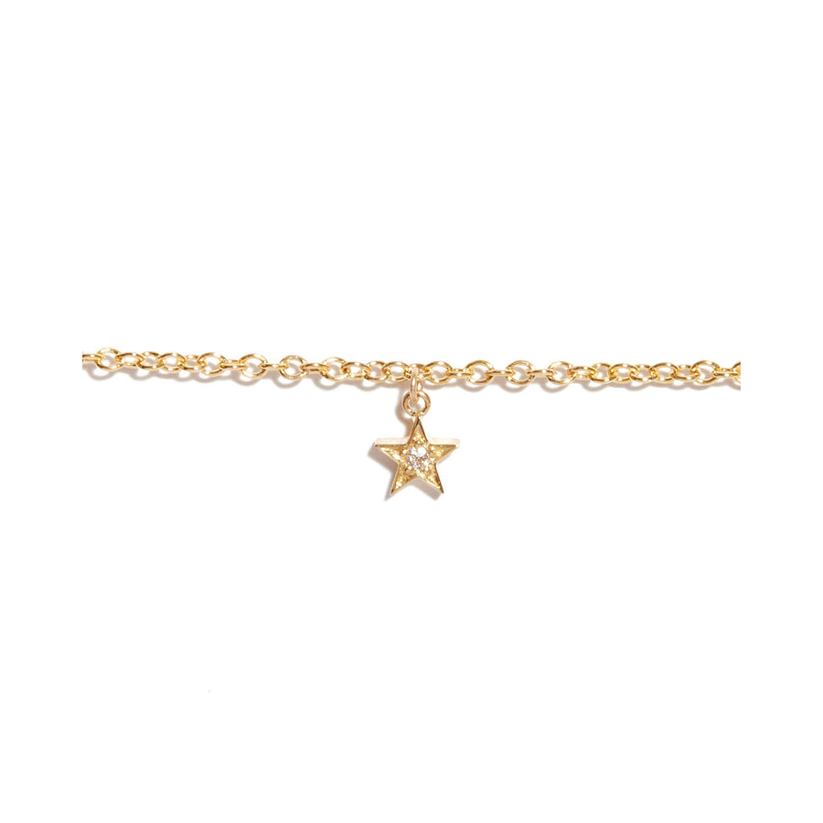 Tiny Star Diamond Bracelet - 9ct Gold