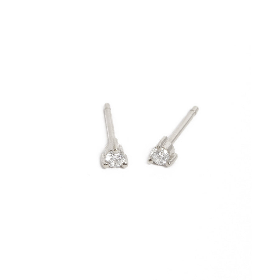 Neo 5pt Diamond Studs - 9ct White Gold