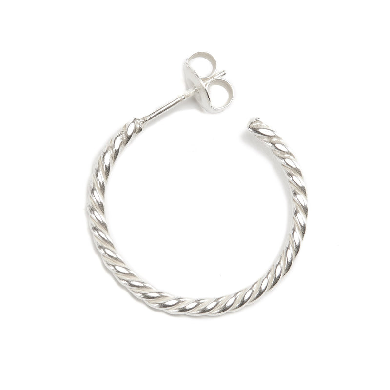 Baby Helix Hoops - 9ct White Gold
