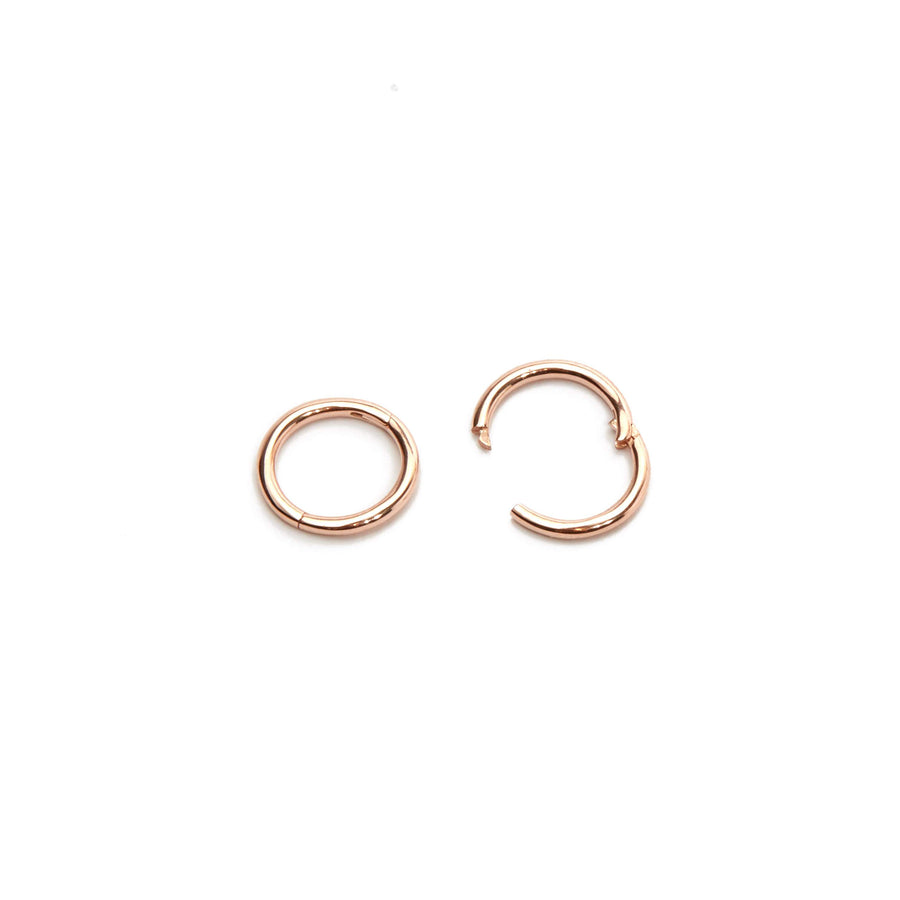 Sleeper Hoop 7mm - 9ct Rose Gold