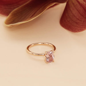Bloom Pink Sapphire Solitaire - 14ct Rose Gold