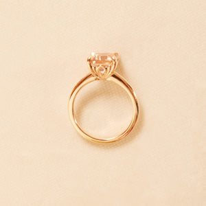 Peaches Morganite Ring - 18ct Rose Gold