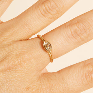Apollo Marquise Champagne Diamond Solitaire - 18ct Gold