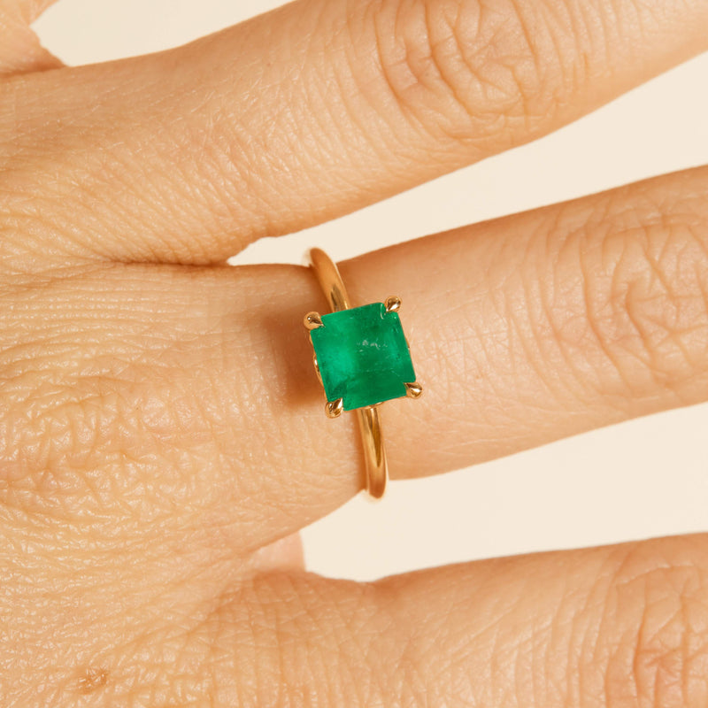 Electra Emerald Solitaire - 18ct Gold