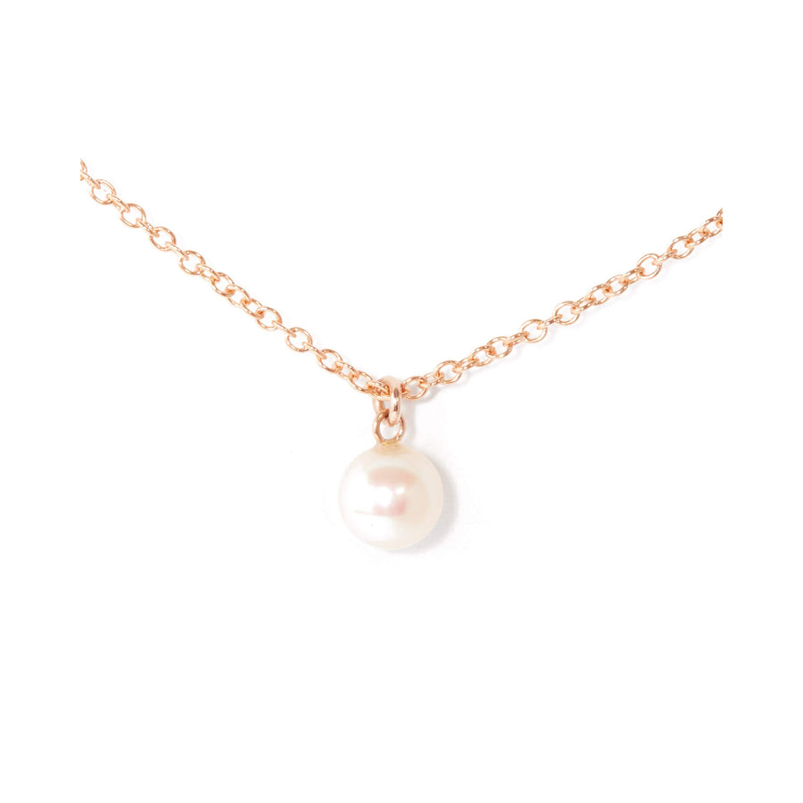 Nymph Pearl Necklace - 9ct Rose Gold