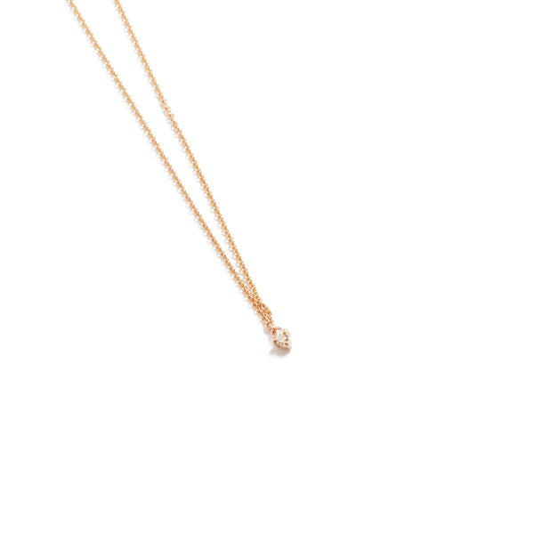 Fairy 3pt Diamond Necklace - 9ct Rose Gold
