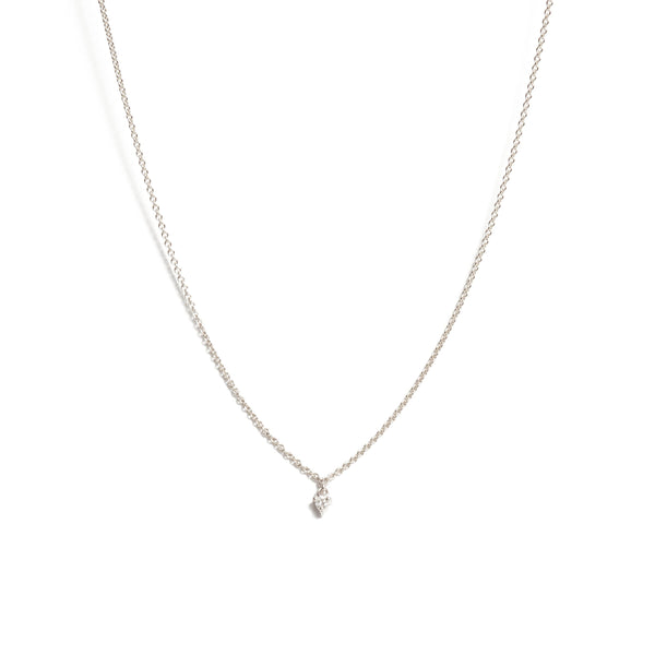 Fairy 3pt Diamond Necklace - 9ct White Gold