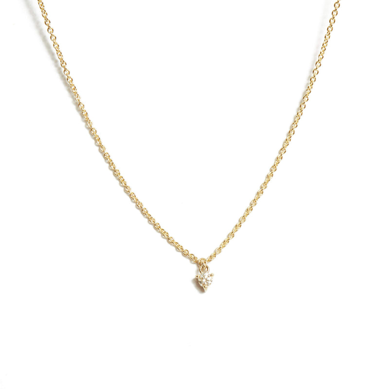 Fairy 5pt Diamond Necklace - 9ct Gold